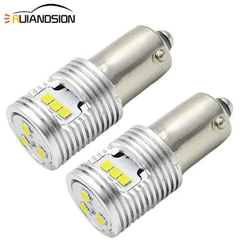 Ruiandsion 2 piezas Canbus BAY9S H21W foco LED 12V-24V extremadamente brillante CSP 9SMD chipset utilizado para luces de indicador, luces de marcha atrás, sin polaridad