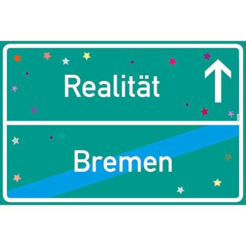 vanva Realität Schild Bremen Ortsschild Realität Bremen Dunkelgrün 300x200 - Lustige Geschenke oder Dekoration - Party Deko Geschenkideen