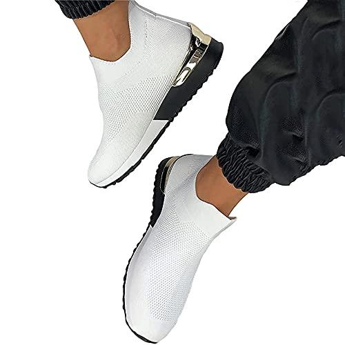 Chaussures plates pour femme - Dessus en maille...