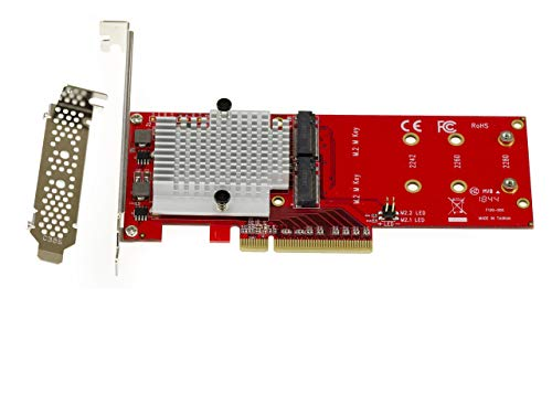 Lycom DT-130 Dual PCIe NVMe M.2 SSD Carrier Adapter