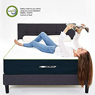 Acesleep Mattress Queen Size - Premium Cool Gel Memory Foam Mattress 12 inch - Medium Firm
