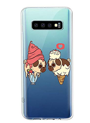 Oihxse Transparente Funda para Samsung Galaxy S8 Plus Ultrafina Silicona Suave TPU Carcasa Interesante Perro Patrón Flexible Protectora Estuche Antigolpes Anti-Choque (A7)