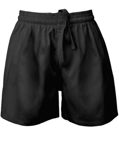 Visiodirect Short école Rugby en Polycoton, Taille Small de Couleur Noir