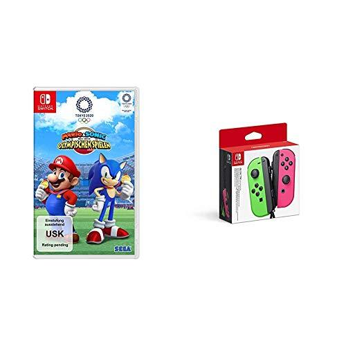 Mario & Sonic bei den Olympischen Spielen: Tokyo 2020 [Nintendo Switch] + Joy-Con 2er-Set Neon-Grün/Neon-Pink