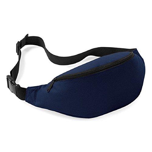 Chianrliu®borsa da viaggio unisex di pratica sportiva trekking marsupio tanny pacco cinture zip (blu)