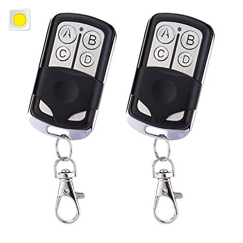 Garage Door Remote Compatible with Yellow Learn Button Replacement for Liftmaster Chamberlain Sears Craftsman 891LM 893LM 950ESTD 953ESTD (2 Pack)