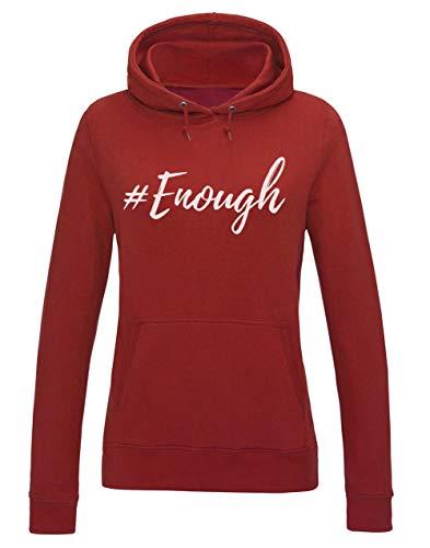 #Enough Protestation Rebelle Street Style Fashion Sweatshirt Capuche Femme X-Large Rouge