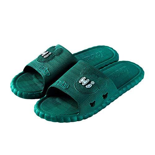 Nwarmsouth Zapatos de Agua Zapatillas de baño, Sandalias de Plataforma de baño, Cómodas Zapatillas de Masaje-4 Verdes_36-37, Sandalias de Punta Abierta 10