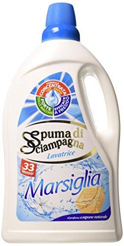 spuma de sciampagna–Detergente Lavadora Marsella, Perfume Jabón Natural, 33Lavados–2botes de 1980ml