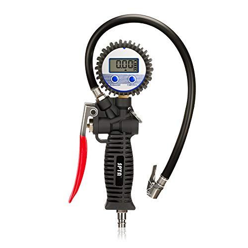 SPTA HATSIG19 Reifenfüller und Reifendruckprüfer - 200 PSI Digitaler Reifenfüll-Messgerät Hohe Präzision Luftdruckmesser Manometer für Auto Fahrrad Motorrad
