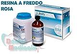 Resina para reparación de prótesis dentales autocurables en frío 500 g + 250 ml (ROSA)