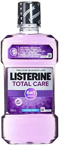 Listerine Total Care Antibacteriële mondspoeling (met 6-voudige werking, voor een grotere mondhygiëne), per stuk verpakt (1 x 500 ml)