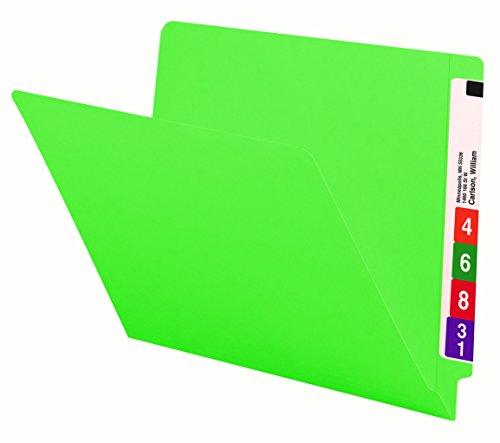 Smead End Tab File Folder, Shelf-Master Reinforced Straight-Cut Tab, Letter Size, Green, 100 per Box (25110)