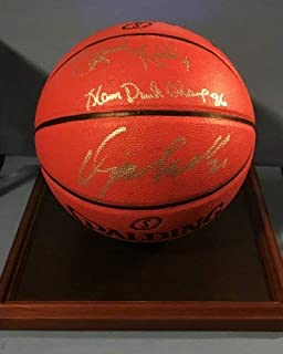 Dominique Wilkins Spud Webb Dual Autographed Signed Basketball PSA/DNA COA Very Rare