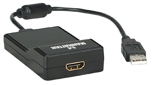 Manhattan 151061 USB 2.0 auf HDMI Adapter Konvertiert ein USB 2.0- in ein HDMI-Signal