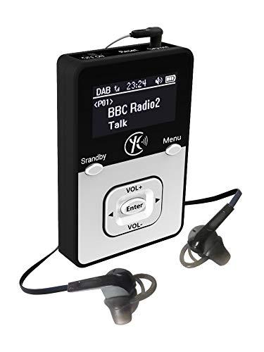 Yaakin K1, Persönliche Tragbare DAB/DAB+/UKW Digital-Radio DAB +, DAB/FM Radio, MP3 Player Miniradio,wiederaufladbare Batterie, tragbares Handfunk, Walking oder Jogging, einschließlich Kopfhörer +MP3
