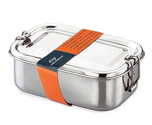 King International Tiffin Lunch Box |Steel Lunch Box| Stainless Steel Box|17 cm Steel Lunch Boxes for Kids| Steel Tiffin Lunch Box kids |Indian Metal Tiffin| Steel Bento tiffin|Made in India