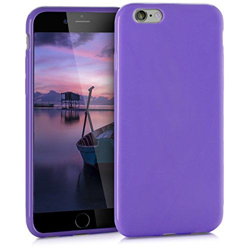 kwmobile Cover Compatibile con Apple iPhone 6 / 6S - Custodia in Silicone TPU - Backcover Protezione Posteriore- Viola Matt