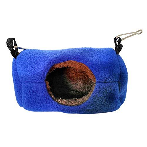 BANGBANGSHOP Hamster Huis Slapende Kooi Muis Rat Nest,Hamster Eekhoorn Guinea Varken Warm Nest Hangende Hangmat Bed Huis Huisdieren benodigdheden Large Blauw