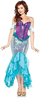 Leg Avenue Costumes Disney 3 Pc. Deluxe Ariel Includes Corset Straps and Skirt