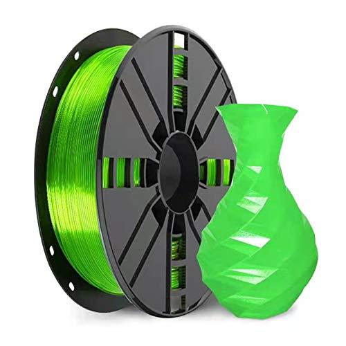 PETG Filament 1.75mm, NOVAMAKER Clear Green PETG 3D Printer Filament, 1kg Spool(2.2lbs), Dimensional Accuracy +/- 0.02mm, Fit Most FDM Printer