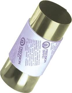 260 Brass Sheet, Unpolished (Mill) Finish, H02 Temper, ASTM B19/ASTM B36, 0.002
