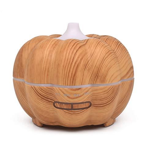 FairOnly 300 ML Kürbisform Holzmaserung Diffusor Luftbefeuchter Aromatherapie Maschine Helles Holzmuster Japanischer Standard