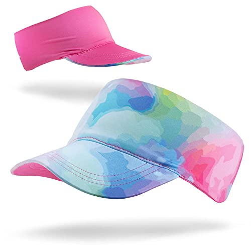 Gone For a Run Runners Lightweight Comfort Performance Visor | Water Color