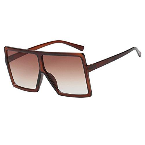Harilla Gafas de Sol Rectangulares con Montura de Plástico Retro para Mujer - Marco Marrón Degradado marrón Lense