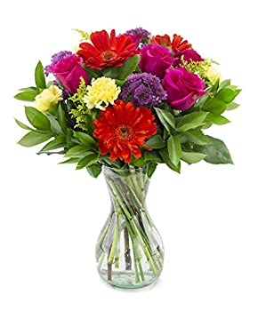 Delivery by Wednesday May 5th Everlasting Fling with a Free Glass Vase by Arabella Bouquets