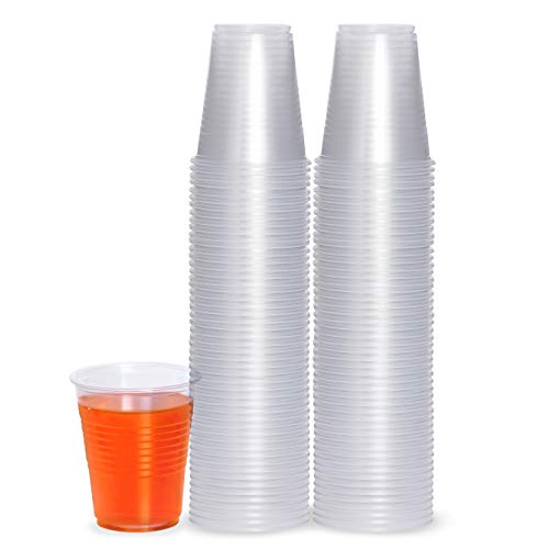 Plasticpro 5 oz Disposable Plastic Medium Weight Clear Drinking Cups 100 Count