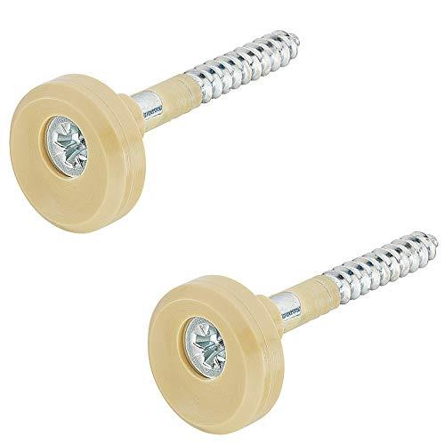 Gedotec H10425 Spiegelhouder voor spiegel, 6 mm, rond, spiegelhouder voor aan de muur 16 mm | Made in Germany | 1 set – spiegelhanger in hoogte verstelbaar.