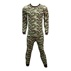 Camouflage colored underwear set in 100% cotton for men.
