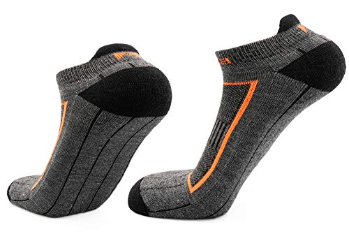 Andina Outdoors Alpha Laufsocken für Damen & Herren, Funktionssocken, Merino & Bambus Socken mit Alpaka Blend, Sportsocken, Grau, 1 Paar, Größe 42-45