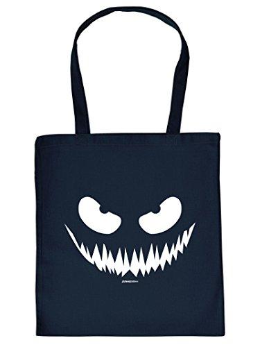 Mega Coole Trick or Treat Tragetasche mit Halloweenmotiv - Halloween / Gesicht / Gruselgesicht /Goodman Design