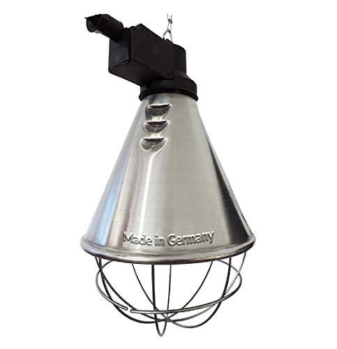 Koll Living Infrarot-Wärmestrahlgerät 150W mit/ohne Leuchtmittel, Kückenlampe, Schweinelampe (2,5 m Kabel - mit Sparschalter)