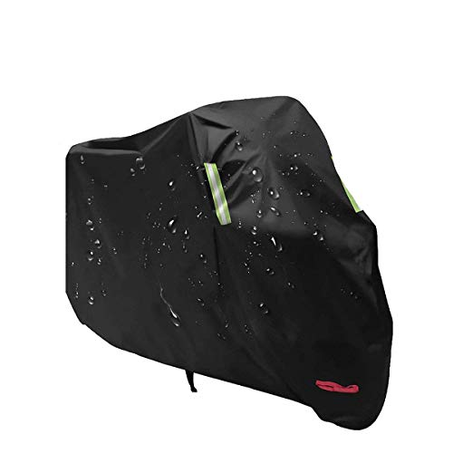 Aideng Motorcycle Rain Cover, 210 D Oxford All Season Super Waterproof Motorcycle Snow Cover Breathable XXL 104 Inches...