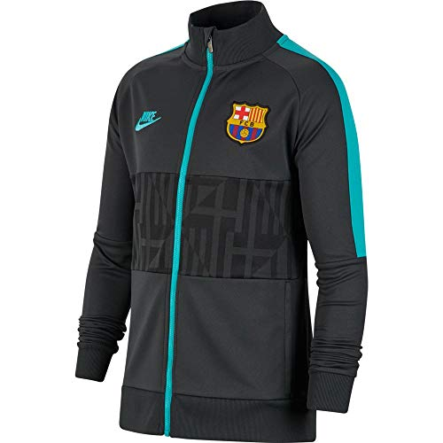Nike 2019-20 FC Barcelona I96 Youth CL Jacket - Black-Teal YL