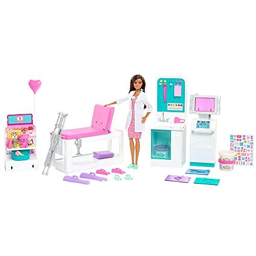 Barbie - Playset Clinica di Pronto Soccorso con Dottoressa Mora e Tanti Accessori, Giocattolo per Bambini 3 + Anni (GTN61)