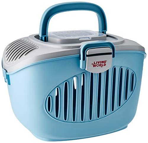 Living World Paws2go, Kleintierbehälter, Transportbox für Kleintiere, grau/blau