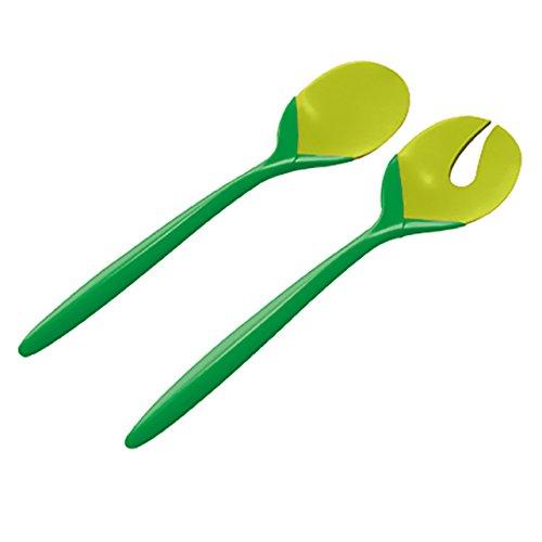 ZAK Tulip Salatbesteck 2-er Set, dunkelgrün