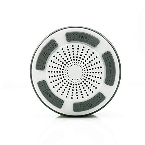 AZZ Bluetooth-Duschlautsprecher, Portable Bluetooth Lautsprecher Tragbarer Waterproof Wireless Speaker Wasserdicht Mit Radio FM (Color : F)