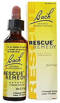 Bach Original Flower Remedies Rescue Remedy Natural Stress Relief 0.7 fl oz  20 ml
