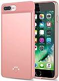 Huije Carcasa de batería para iPhone SE 2020/8/7/6S/6 – [5000 mAh], funda de carga portátil, ultra fina, batería externa extensible recargable para iPhone SE2/6/6S/7/8 (4,7 pulgadas) – Oro rosa