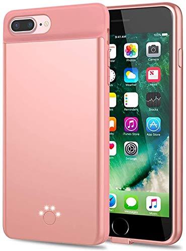 Huije Custodia per batteria per iPhone SE 2020/8/7/6s/6 - [5000mAh], custodia di ricarica portatile ultra sottile, Power Bank esteso ricaricabile per iPhone SE2/6/6S/7/8 (4,7 pollici) - oro rosa