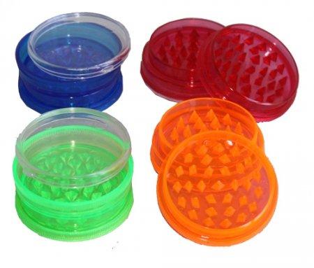 budawi® - Acryl-Grinder-5cm-mit Kammer für Kräuter in 4 Farben, Grassmühle, Kräuter-Mühle (acryl klar)