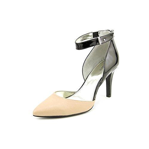 Alfani Ambie Womens Size 7 Black/Blush Leather Pumps Heels Shoes