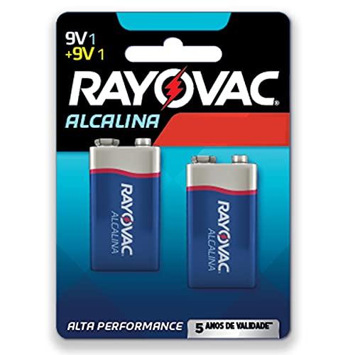 Bateria Rayovac Alcalina 9V com 2