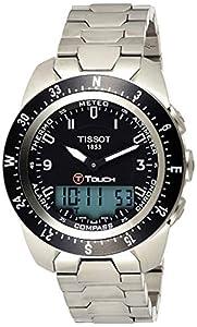 Tissot Men's T0134204405700 T-Touch Expert Pilot Black Touch Analog-Digital Dial Watch image