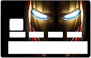 DECO-IDEES Credit Card Sticker - Bank Card, Iron Man - Personalize Your Credit Card with These Removable Stickers